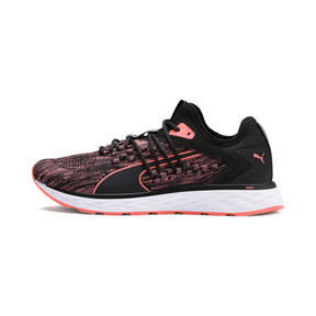 Thumbnail 1 of SPEED FUSEFIT Women's Running Shoes, Puma Black-Fluo Peach, medium
