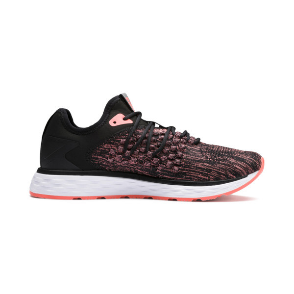 SPEED FUSEFIT Women's Running Shoes, Puma Black-Fluo Peach, large