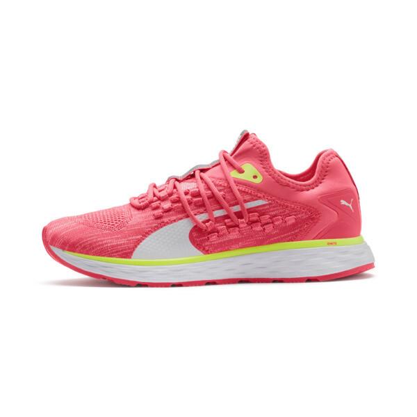 SPEED 600 FUSEFIT Women's Running Shoes, Pink Alert-Puma White, large