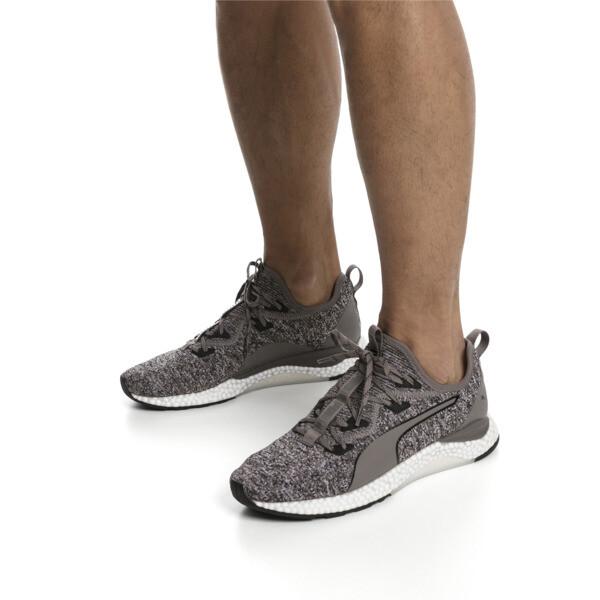 HYBRID Runner Men's Running Shoes, Charcoal Gray-Puma White, large