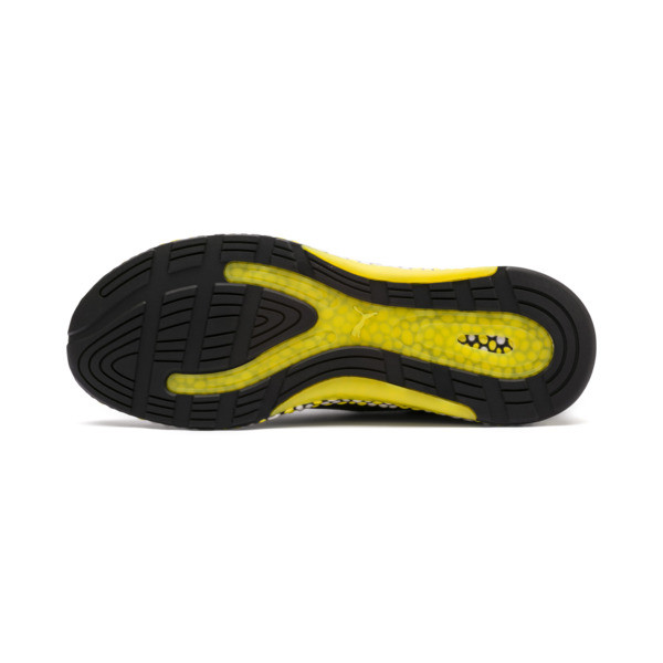 Hybrid Runner Herren Laufschuhe, Black-White-Blazing Yellow, large