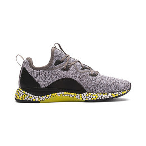 Thumbnail 5 of HYBRID Runner Men's Running Shoes, Black-White-Blazing Yellow, medium