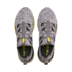 Thumbnail 6 of HYBRID Runner Men's Running Shoes, Black-White-Blazing Yellow, medium