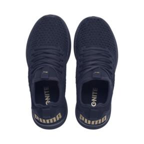 Thumbnail 6 of IGNITE Flash Varsity Women's Running Shoes, Peacoat-Metallic Gold, medium