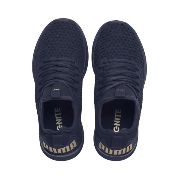 IGNITE Flash Varsity Women's Running Shoes, Peacoat-Metallic Gold, large