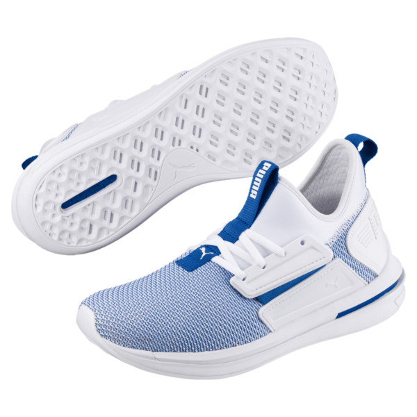 IGNITE Limitless SR New School Sneakers, Puma White-Strong Blue, large