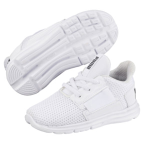 Thumbnail 2 of Enzo Street Kids' Little Kids' Shoes, White-White-Iron Gate, medium