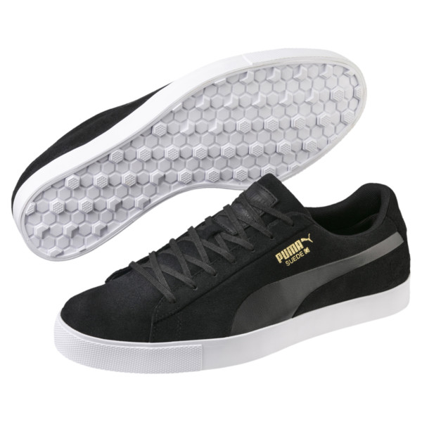 Suede G Men's Golf Shoes, Puma Black-Puma Black, large
