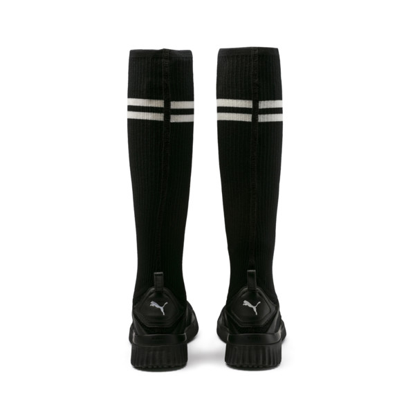 new style ce9c2 23bff FENTY Trainer Hi Black Trainers