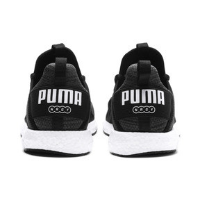 Thumbnail 4 of Mega NRGY Heather Knit Running Shoes JR, Iron Gate-Black-White, medium