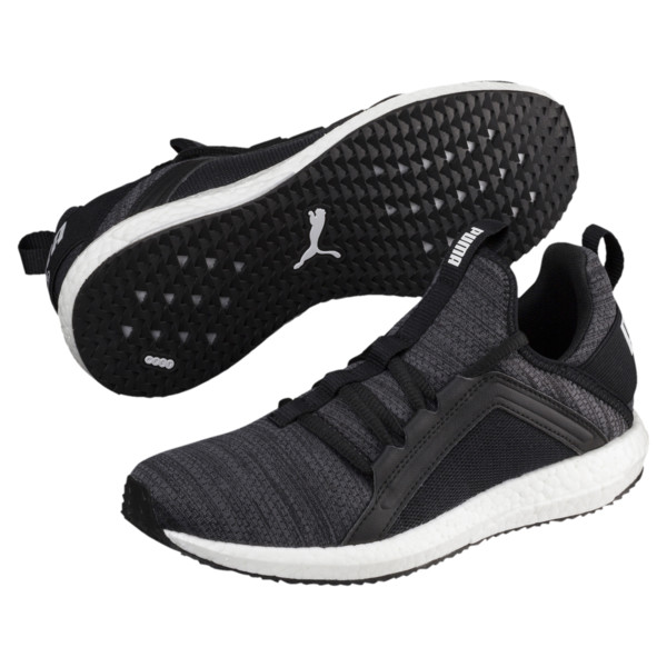 Mega NRGY Heather Knit Running Shoes JR, Iron Gate-Black-White, large