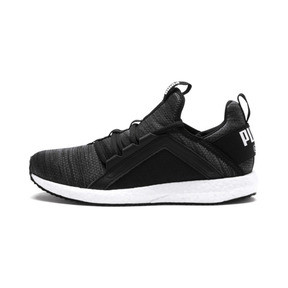Thumbnail 1 of Mega NRGY Heather Knit Running Shoes JR, Iron Gate-Black-White, medium