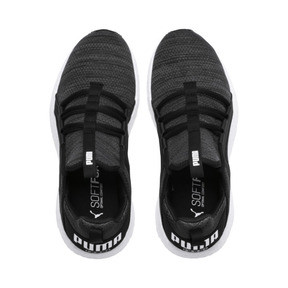 Thumbnail 6 of Mega NRGY Heather Knit Running Shoes JR, Iron Gate-Black-White, medium