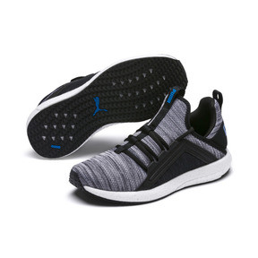 Thumbnail 2 of Chaussure de course Mega Energy Heather Knit pour enfant, Black-White-Indigo Bunting, medium