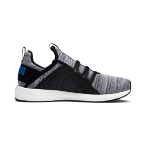 Thumbnail 5 of Mega Energy Heather Knit Kids' Running Shoes, Black-White-Indigo Bunting, medium
