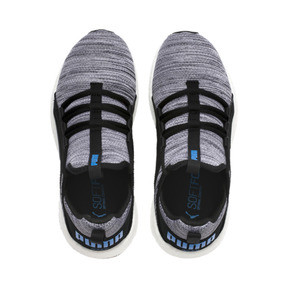 Thumbnail 6 of Chaussure de course Mega Energy Heather Knit pour enfant, Black-White-Indigo Bunting, medium