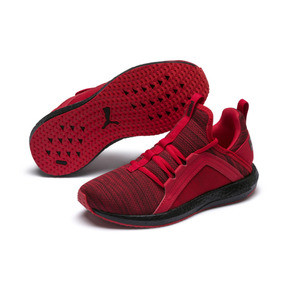 Thumbnail 2 of Chaussure de course Mega Energy Heather Knit pour enfant, High Risk Red-Black, medium