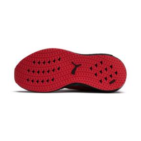 Thumbnail 4 of Mega Energy Heather Knit Kids' Running Shoes, High Risk Red-Black, medium