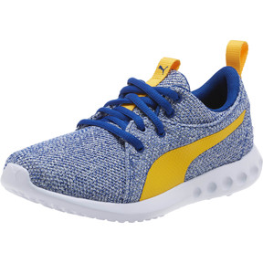 Thumbnail 1 of Carson 2 Bold Knit Sneakers JR, Sodalite Blue-Spectra Yellow, medium