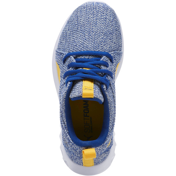 Carson 2 Bold Knit Sneakers JR, Sodalite Blue-Spectra Yellow, large
