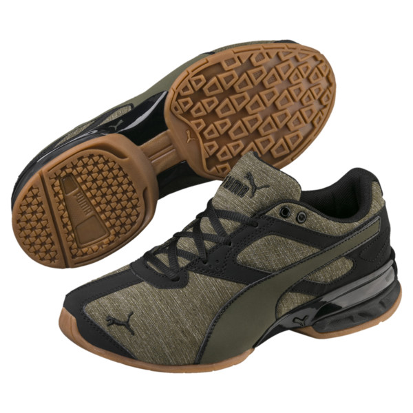 Tazon 6 Heather Rip Sneakers JR, Forest Night-Puma Black, large