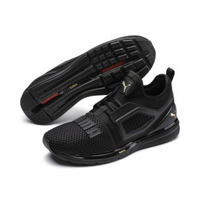 Thumbnail 2 of IGNITE Limitless 2 Running Shoes, Puma Black-Metallic Gold, medium