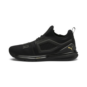 Thumbnail 1 of IGNITE Limitless 2 Running Shoes, Puma Black-Metallic Gold, medium