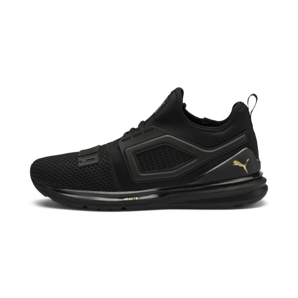 IGNITE Limitless 2 Running Shoes, Puma Black-Metallic Gold, large