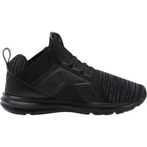 Thumbnail 3 of Enzo Bold Knit Sneakers JR, Puma Black-Asphalt, medium