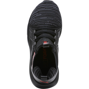Thumbnail 5 of Enzo Bold Knit Sneakers JR, Puma Black-Asphalt, medium