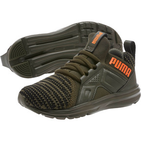 Thumbnail 2 of Enzo Bold Knit AC Preschool Sneakers, Forest Night-Puma Black, medium
