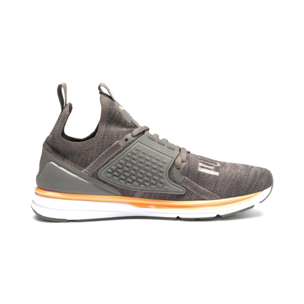 IGNITE Limitless 2 evoKNIT Trainers, Asphalt-Charcoal Gray-Orange, large