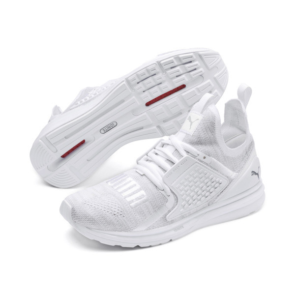 IGNITE Limitless 2 evoKNIT Trainers, Puma White-Quarry, large