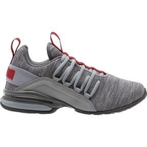 Thumbnail 3 of Axelion Training Shoes JR, Quarry-Red Dahlia, medium