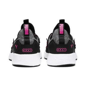Thumbnail 4 of NRGY Neko Knit Women's Running Shoes, Puma Black-KNOCKOUT PINK, medium