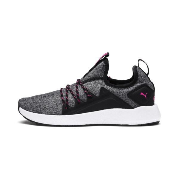 NRGY Neko Knit Women's Running Shoes, Puma Black-KNOCKOUT PINK, large