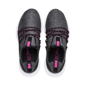 Thumbnail 6 of NRGY Neko Knit Women's Running Shoes, Puma Black-KNOCKOUT PINK, medium