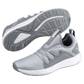 Thumbnail 2 of NRGY Neko Knit Women's Running Shoes, Quarry-Puma White, medium