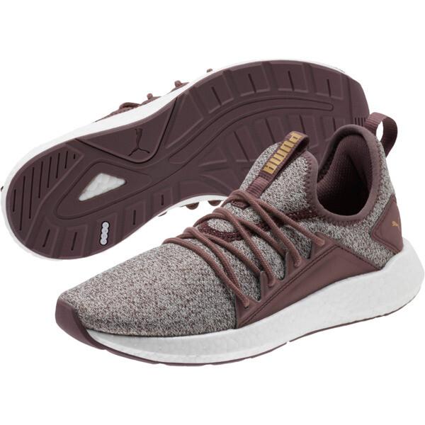 NRGY Neko Knit Women's Running Shoes, Ppprcrn-WisperWhite-PmaTmGld, large