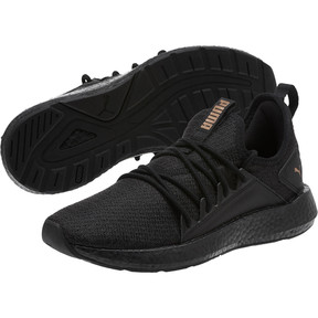 Thumbnail 2 of NRGY Neko Knit Women's Running Shoes, PmaBlack-Asphalt-MtllicBrnze, medium
