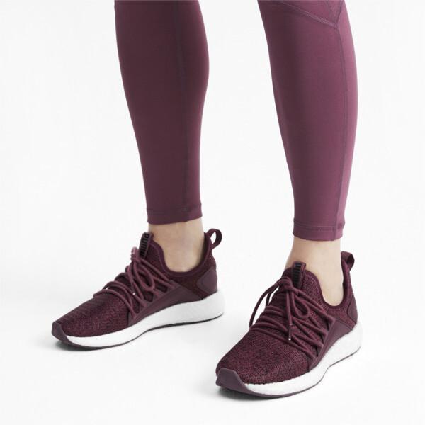 NRGY Neko Knit Women's Running Shoes, Vineyard Wine-Puma Black, large