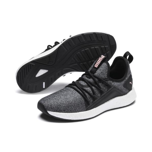 NRGY Neko Knit Women's Running Shoes, Puma Black-Bridal Rose, large
