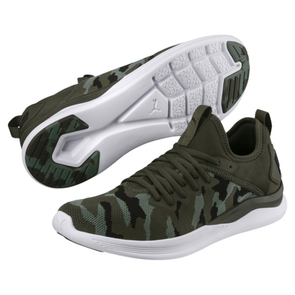 IGNITE Flash Camo Men's Running Shoes, Forest-Laurel Wreath-Black, large