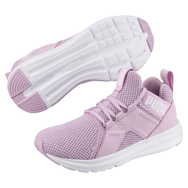 Enzo Weave Women's Sneakers, Winsome Orchid-Puma White, large