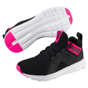 Thumbnail 2 of Enzo Weave Women's Sneakers, Puma Black-SHOCKING PINK, medium