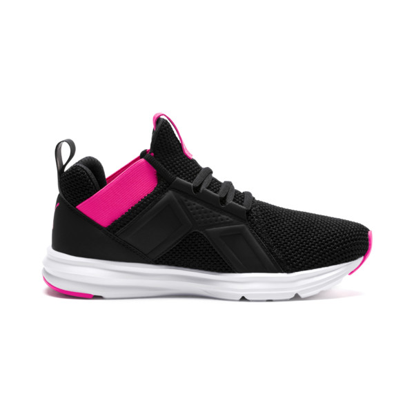 Enzo Weave Women's Sneakers, Puma Black-SHOCKING PINK, large