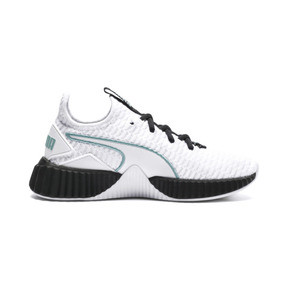 Thumbnail 5 of Defy Girls' Trainers, White-Black-Aquifer, medium