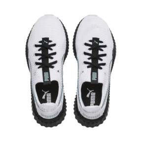 Thumbnail 6 of Defy Girls' Trainers, White-Black-Aquifer, medium