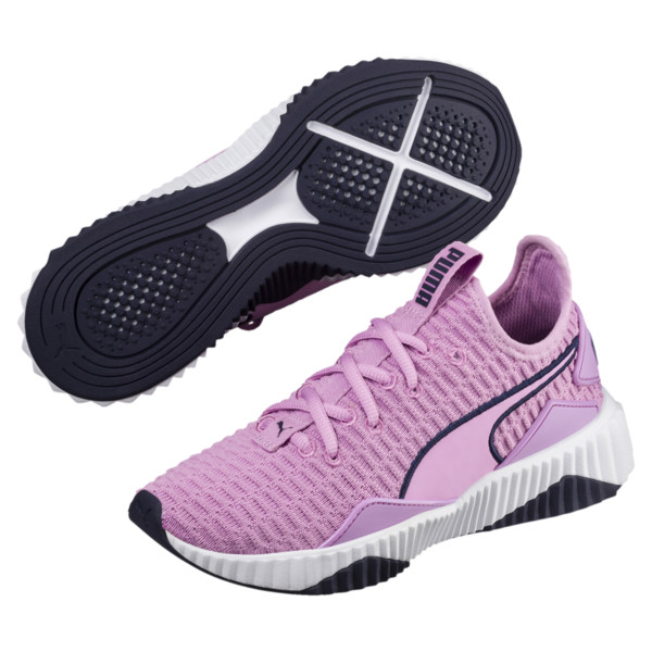 Defy Girls' Training Shoes JR, Orchid-White-Peacoat, large