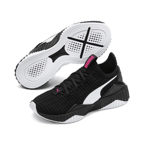 Defy Mädchen Sneaker, Puma Black-Puma White, large